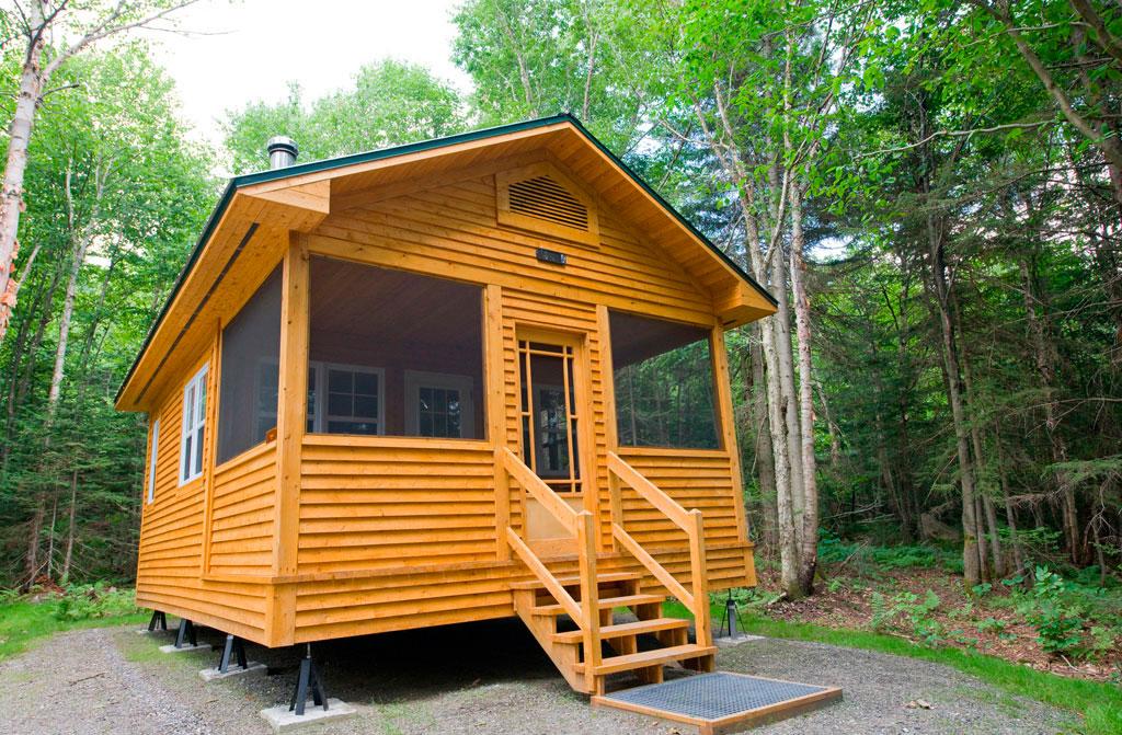 Camp rustique h bergement s paq for Petits plans de chalet