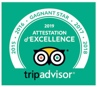 Attestation d'Excellence 2019 TripAdvisor